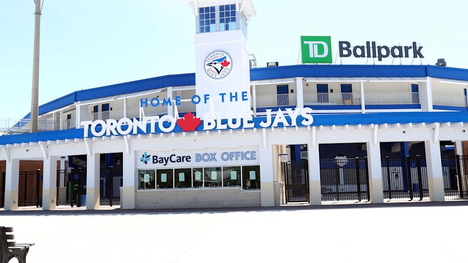 Mar 14, 2020; Dunedin, Florida, USA;  A general view of TD Ballpark where the spring training  game between the  Tampa Bay Rays and Toronto Blue Jays has been canceled do to the COVID-19 virus. Mandatory Credit: Kim Klement-USA TODAY Sports - 14179829