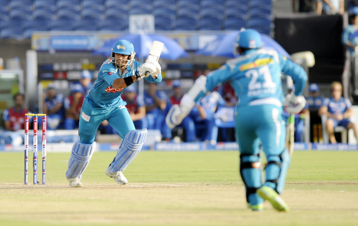 Abhishek Nayar of Pune Warriors bats  during match 58 of the Pepsi Indian Premier League ( IPL) 2013  between The Pune Warriors India and the Kolkata Knight Riders held at the Subrata Roy Sahara Stadium, Pune on the 11th May 2013. (BCCI)