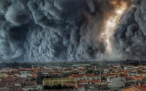 <span>Fire over Vieira de Leiria, Portugal, in 2017</span> <span>Credit: NPA </span>