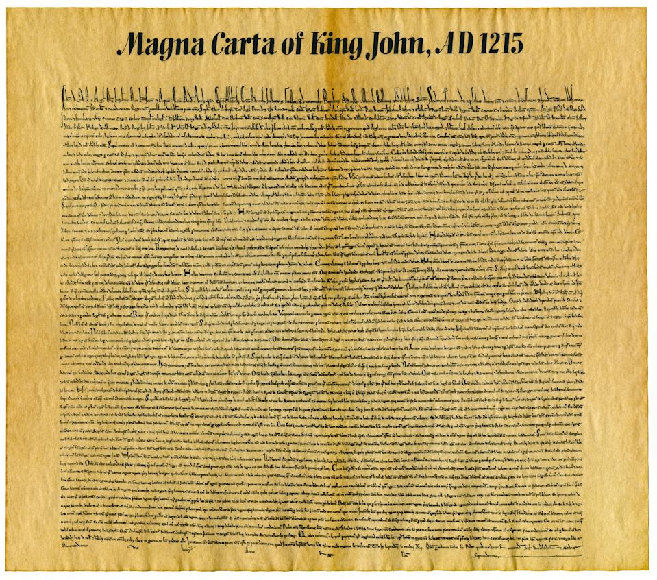 Magna Carta or Magna Carta Libertatum, is an English legal charter that required King John of England to proclaim certain rights, respect certain legal procedures, and accept that his will could be bound by the law.