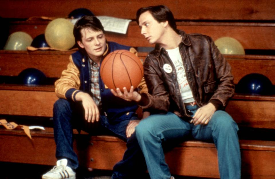 Fox and Jerry Levine in <em>Teen Wolf</em>. (Photo: Atlantic Releasing/courtesy Everett Collection)