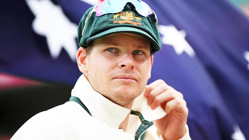 Steve Smith, pictured here before a Test match in 2017.