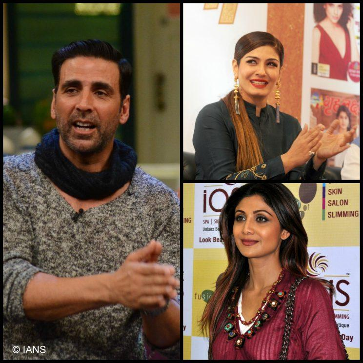<p>Bollywood's ladykiller Akshay Kumar was engaged to Raveena Tandon and Shilpa Shetty before he tied the knot with Twinkle Khanna in 2001.</p>