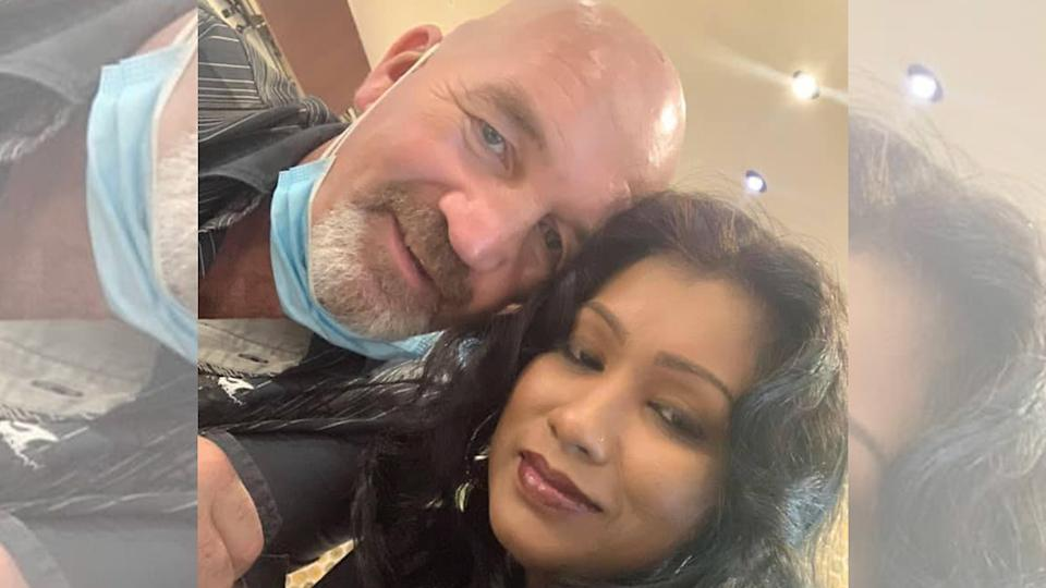 Nigel Skea, 52, and Agatha Maghesh Eyamalai, 39. The couple were married in November last year. (PHOTO: Facebook / Agatha Maghesh)