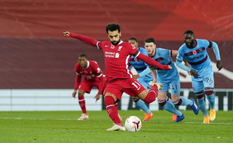 Mohamed Salah equalised for Liverpool from the penalty spot