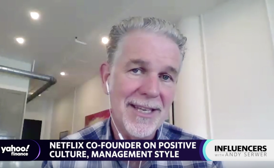 Netflix co-CEO and co-founder Reed Hastings speaks with Yahoo Finance's Andy Serwer.
