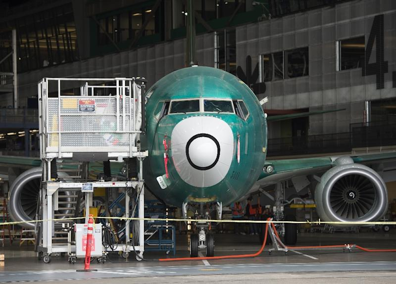 A Boeing 737 aircraft is seen during the manufacturing process at Boeing's 737 airplane factory in Renton, Washington, May 19, 2015 (AFP Photo/Saul Loeb)