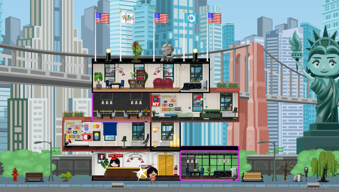 Hotel City New York Background at the Bellboy Hotel