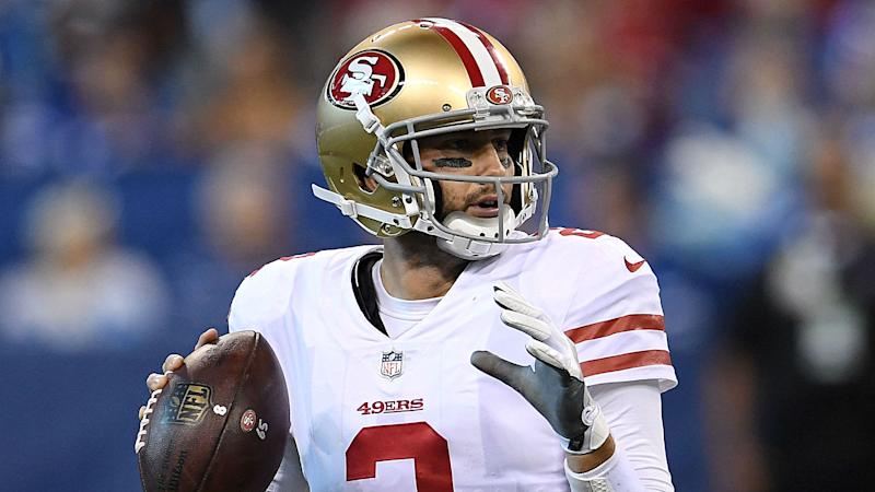 73fd6e959d6 Patriots sign former 49ers QB Brian Hoyer after Jimmy Garoppolo trade