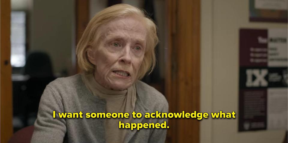 Joan talking to ethics department