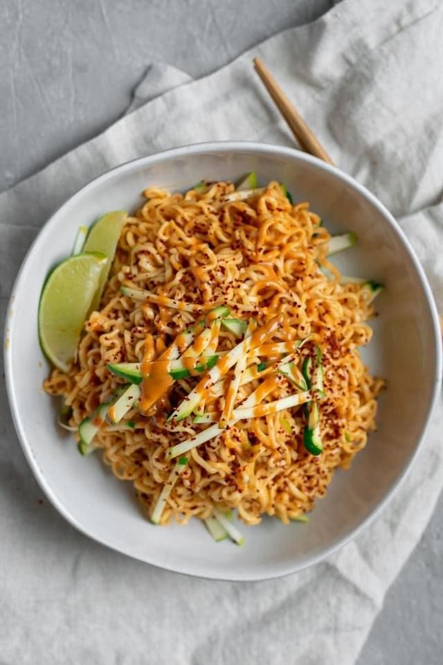 "<p>Incorporate this summer squash into your favorite Thai dish, like this peanut noodle recipe. </p><p><strong>Get the recipe at <a href=""https://www.thecuriouschickpea.com/gochujang-peanut-noodles-with-patty-pan-squash/"" target=""_blank"">The Curious Chickpea</a>.</strong></p><p><a class=""body-btn-link"" href=""https://www.amazon.com/Non-GMO-Gochugaru-Korean-Pepper-Powder/dp/B00LU7FZKC/?tag=syn-yahoo-20&ascsubtag=%5Bartid%7C10050.g.4691%5Bsrc%7Cyahoo-us"" target=""_blank"">SHOP GOCHUGARU</a></p>"