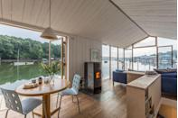 """<p>How does the sound of waking up in a houseboat and sipping on freshly-brewed coffee with panoramic views over the Penryn River in Cornwall sound to you? </p><p>With three cabins and a bathroom, this floating property is exactly what you need if you love to cosy up and watch the tide come in and out along one of the south of England's most famous coastal spots. </p><p>The floathouse is big on eco-friendly living, too, with biomass heating, rain water harvesting, electricity from renewable sources and reclaimed and local wood throughout. Located a 30-minute walk away from Falmouth (think surfing and sailing), we couldn't think of anywhere better to book for a weekend away with family and friends. </p><p><strong>Boat for 6 from £130 per night</strong></p><p><a class=""""link rapid-noclick-resp"""" href=""""https://www.canopyandstars.co.uk/britain/england/cornwall/the-floathouse/the-floathouse-amelie#search_type=keyword&search_text=cornwall&"""" rel=""""nofollow noopener"""" target=""""_blank"""" data-ylk=""""slk:BOOK ONLINE"""">BOOK ONLINE</a></p>"""