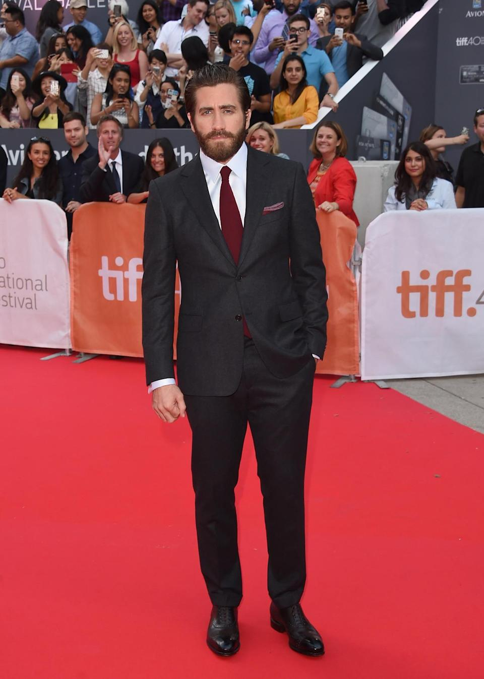 "<p>From Venice, Italy to Toronto, Canada, in a matter of days for two different movies! Attending the Ontario-based festival, the actor traveled across multiple time zones to promote ""Demolition,"" in which he plays a widower on a journey of self-destruction. </p>"