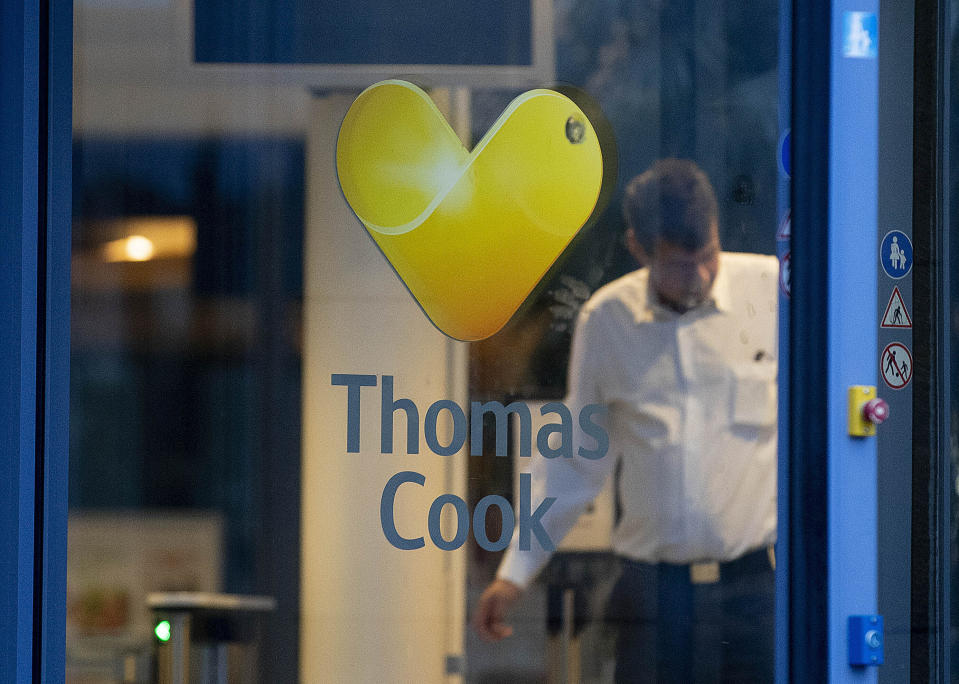 Boris Johnson defended his refusal to bail out Thomas Cook. (AP Photo/Michael Probst)