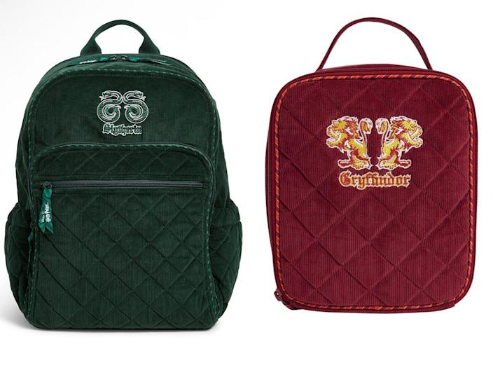Vera Bradley's new collection features all of the Hogwarts Houses.