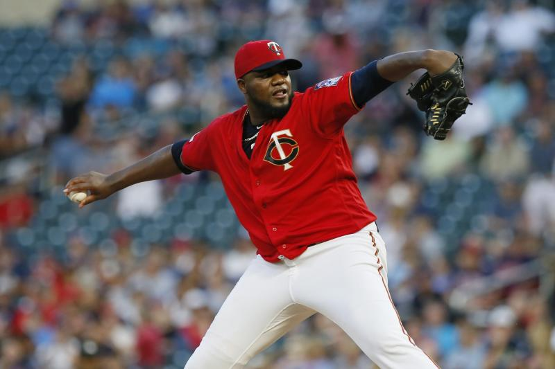 Minnesota Twins pitcher Michael Pineda throws to a Cleveland Indians batter during the first inning of a baseball game Friday, Sept 6, 2019, in Minneapolis. (AP Photo/Jim Mone)