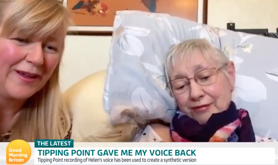 Helen joined Good Morning Britain to share her progress with Tipping Point host Ben Shepherd (ITV)