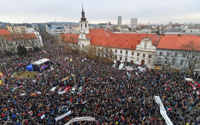Slovak Protesters Demand Action In Probe Of Journalist's Killing