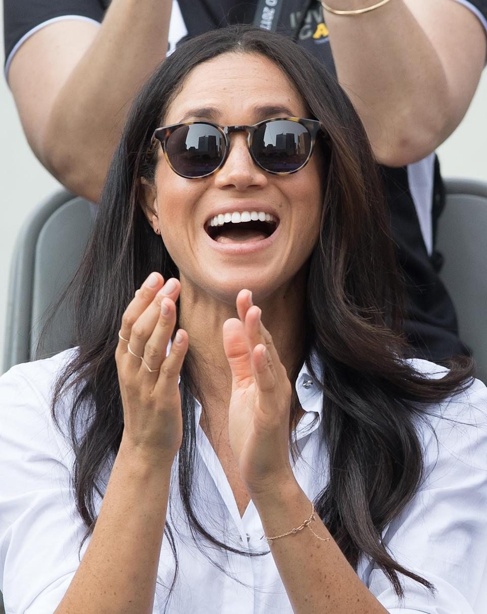 Meghan Markle has also gown down the natural nail route [Photo: Getty]