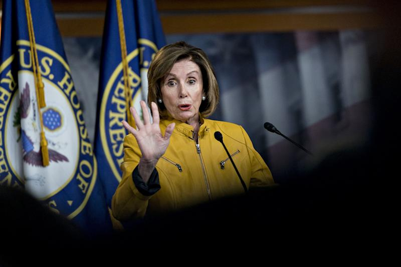 """(Bloomberg) -- House Speaker Nancy Pelosi is trying to draw attention away from the politically explosive topic of impeaching President Donald Trump by putting health care back at center stage for Democrats.Pelosi said more than 140 House Democrats held home-district events on health care over the weekend. This focus is especially important for moderate Democrats eager show voters they're trying to deliver on their campaign promises even as some of their colleagues push ahead with investigations of Trump's business, associates and administration.""""When we won the election in November, it was health care, health care, health care,"""" Pelosi said Monday at an event at East Los Angeles College in her home state of California. """"People said 'why was health care so important in the election?' It was because it was so important in peoples lives.""""Her pivot to health care comes as the party seeks to protect vulnerable House Democrats in Republican-leaning districts in 2020, with Democratic leaders wary of an impeachment inquiry that could backfire. Health policy is also an issue where Republicans have been on the defensive after trying and failing in 2017 to repeal the Affordable Care Act, which helped Democrats pick up 40 GOP seats in 2018.Health care is a winning issue for Democrats and remains a """"hearty perennial,"""" said Karlyn Bowman, a public opinion analyst at the American Enterprise Institute in Washington.""""They're right to focus on it,"""" she added. """"Impeachment isn't the top priority for the nation. There's no question about that.""""'Assault on Health Care'Pelosi also on Monday condemned what she said were Trump's latest efforts to """"dismantle"""" health care in America. She was referring to the president's claim in an ABC News interview that a """"phenomenal"""" GOP health care plan is """"almost complete,"""" just months after Senate Republicans convinced him that such a promise would be a losing issue after the party's 2017 health care quagmire.""""President Trump has waged an assault on h"""
