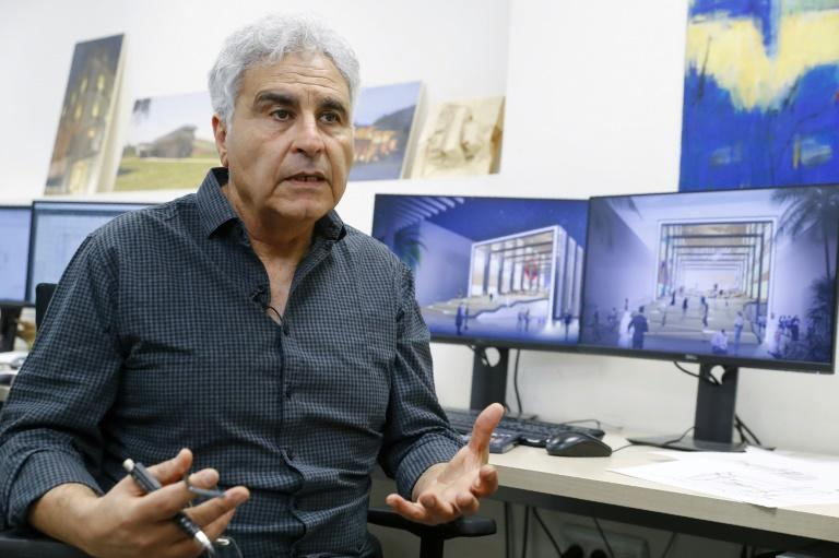 Israeli architect David Knafo, who designed Israel's pavilion for Expo 2020 Dubai, hopes the event will be 'a unique meeting' between people who rarely encounter one another (AFP Photo/JACK GUEZ)