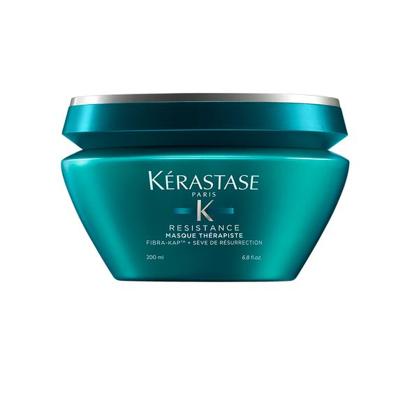 "Made of peptides, amino acids and wheat protein, this deeply restoring hair mask is a miracle product for damaged and over-processed hair (looking at you, platinum blondes). Its ingredients work together to enhance each hair fiber's resilience and structure, while restoring smoothness and elasticity. Simply apply a quarter-sized amount to wet hair, from mid-length to ends, and leave on for 10 minutes before rinsing. It's even gentle enough to use daily, for super dry strands. <a href=""https://www.kerastase-usa.com/masque-therapiste/THERA003.html?cgid=strength-resilience&dwvar_THERA003_size=200ML#start=16&cgid=strength-resilience"" target=""_blank"">Shop it here</a>."