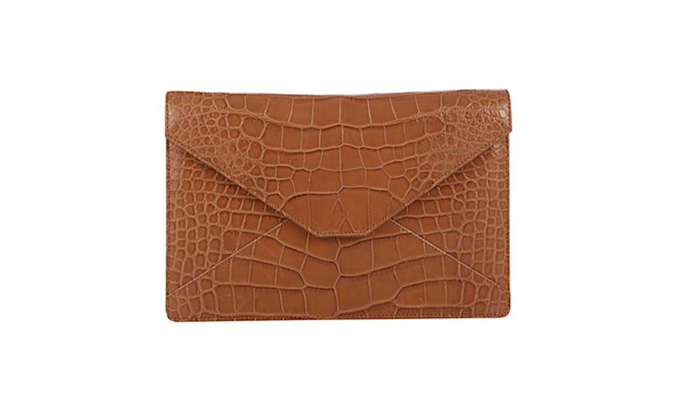 "<p>Sometimes, only a clutch will do and this alligator one from Stalvey is exquisite. </p><p>Stalvey Alligator Adysen Envelope Clutch, $4,840, <a href=""http://www.barneys.com/product/stalvey-alligator-adysen-envelope-clutch-503720235.html"" rel=""nofollow noopener"" target=""_blank"" data-ylk=""slk:Barneys.com"" class=""link rapid-noclick-resp"">Barneys.com</a></p>"