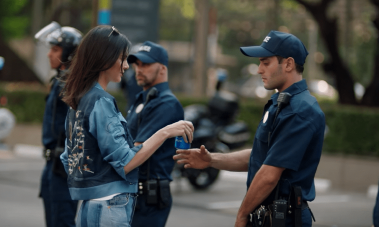 Screengrab of Kendall Jenner's new Pepsi ad.