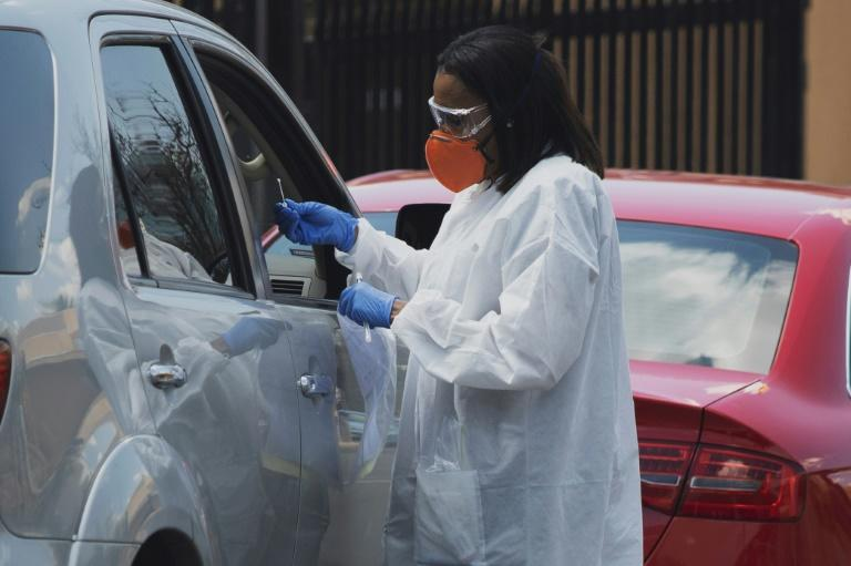 South Africa has started drive-through tests for the coronavirus, but the high cost -- more than $50 -- is beyond the means of most people