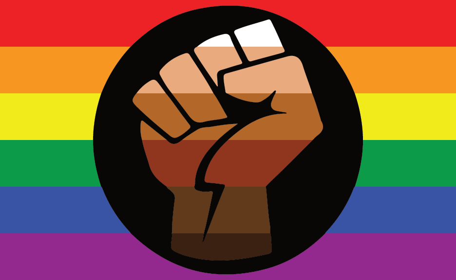 """<p>As a representation of Queer People of Color, <a href=""""https://www.tripridetn.org/pride-flags/"""" rel=""""nofollow noopener"""" target=""""_blank"""" data-ylk=""""slk:it's not known who the original creator of the flag was"""" class=""""link rapid-noclick-resp"""">it's not known who the original creator of the flag was</a> but represents solidarity with the BLM movement as well as the intersection of the queer and Black communities (including the importance of figures like <a href=""""https://www.bbc.co.uk/newsround/52981395"""" rel=""""nofollow noopener"""" target=""""_blank"""" data-ylk=""""slk:Marsha P. Johnson"""" class=""""link rapid-noclick-resp"""">Marsha P. Johnson</a>, the Black drag queen who <a href=""""https://www.nytimes.com/2019/05/31/us/first-brick-at-stonewall-lgbtq.html"""" rel=""""nofollow noopener"""" target=""""_blank"""" data-ylk=""""slk:may have thrown the first brick"""" class=""""link rapid-noclick-resp"""">may have thrown the first brick</a> at the Stonewall Inn riots) to the movements. No surprise, the flag has become more popular in 2020 and beyond. The raised fist is a sign of unity and support as well as defiance and resistance, and the various colors on the fist represent diversity. </p>"""