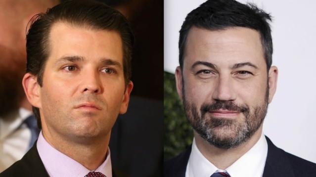 Donald Trump Jr. went after late-night host Jimmy Kimmel on social media over the weekend.