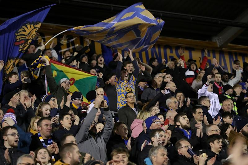 Magic of the cup: Shrewsbury fought back from 2-0 down to force an unlikely replay (Action Images via Reuters)