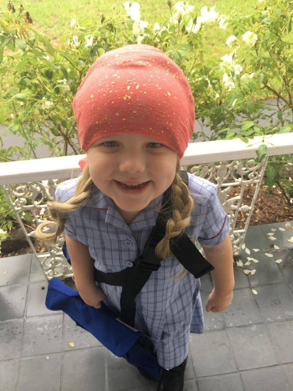 Evie started kindergarten last year but missed a lot of school. Photo: Supplied