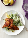 """<p>Cajun spices like paprika, garlic powder and cayenne bring the Big Easy's bold flavors to this tilapia dish.</p><p><em><a href=""""https://www.goodhousekeeping.com/food-recipes/a14343/blackened-fish-green-rice-recipe-wdy1012/"""" rel=""""nofollow noopener"""" target=""""_blank"""" data-ylk=""""slk:Get the recipe for Blackened Fish with Green Rice"""" class=""""link rapid-noclick-resp"""">Get the recipe for Blackened Fish with Green Rice </a></em></p>"""