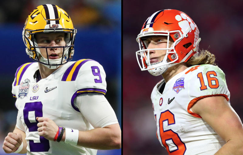 Who will win the quarterback duel between LSU's Joe Burrow and Clemson's Trevor Lawrence? (Reuters)