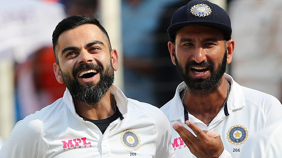 India's cricketers have been vaccinated against Covid ahead of their tour of England. (Photo by Surjeet Yadav/Getty Images)
