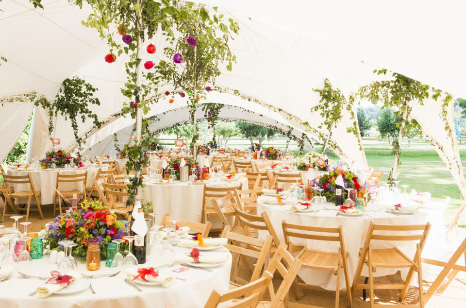 Marquee weddings can go ahead if sides are opened for ventilation. (Getty Images)