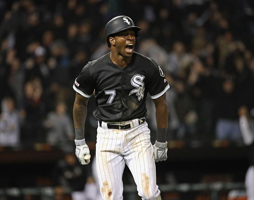 Tim Anderson saves the day for White Sox and breaks out an epic bat flip. (Photo by Jonathan Daniel/Getty Images)