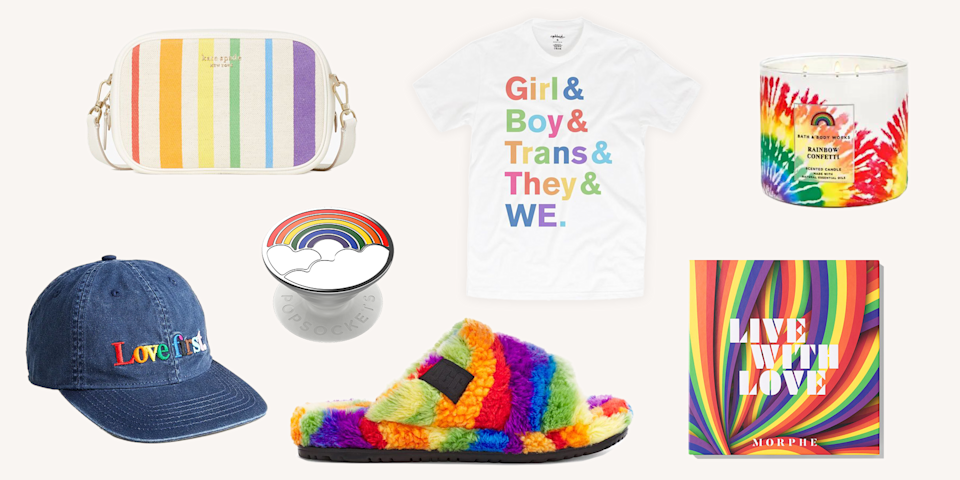 <p>STOP, RIGHT THERE. Before you head to the mall and pick out the first mass-produced rainbow tee that comes your way, read this. Because basically all of your favorite brands (Dr. Martens, Puma, PopSockets, Teva) have dropped cool-as-hell Pride-themed collections–and they're donating the profits to LGBTQ-friendly charities in turn. </p><p>Some companies are paying it 100% forward by donating all profits, while others made a hefty contribution to queer causes before releasing their collab. Either way, you can shop these rainbow-bright lines and feel <em>really </em>good about it. Ahead, all the coolest, chicest Pride merch you should add to your summer 2021 lineup.</p>