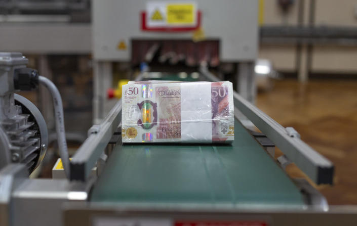 Ready for distribution. Photo: Bank of England