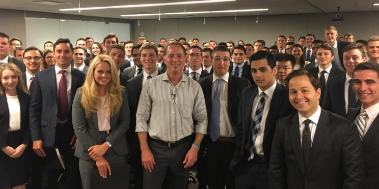 Jefferies CEO Rich Handler with the bank's summer interns in New York. (Instagram/ HandlerRich)