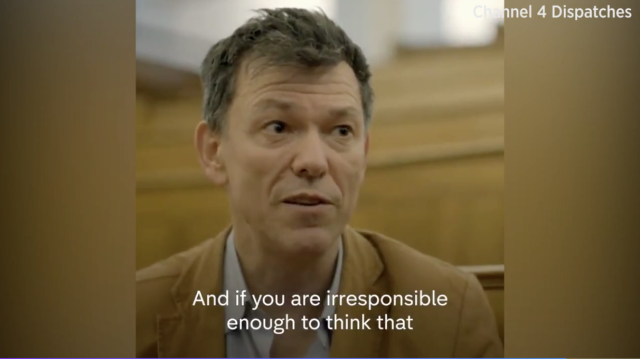 Prof Montgomery spoke to Channel 4's <em>Dispatches</em> about how easily the coronavirus spreads. (Channel 4)