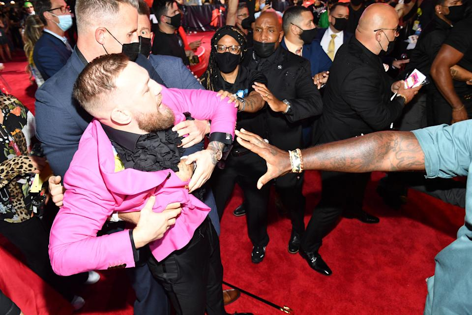 NEW YORK, NEW YORK - SEPTEMBER 12: Conor McGregor attends the 2021 MTV Video Music Awards at Barclays Center on September 12, 2021 in the Brooklyn borough of New York City.   Noam Galai/Getty Images for MTV/ViacomCBS/AFP / AFP / GETTY IMAGES NORTH AMERICA / Noam Galai