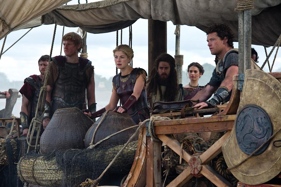 "Rosamund Pike, Toby Kebbell, Lily James and Sam Worthington in Warner Bros. Pictures' <a href=""http://movies.yahoo.com/movie/wrath-of-the-titans/"" data-ylk=""slk:Wrath of the Titans"" class=""link rapid-noclick-resp"">Wrath of the Titans</a> - 2012"