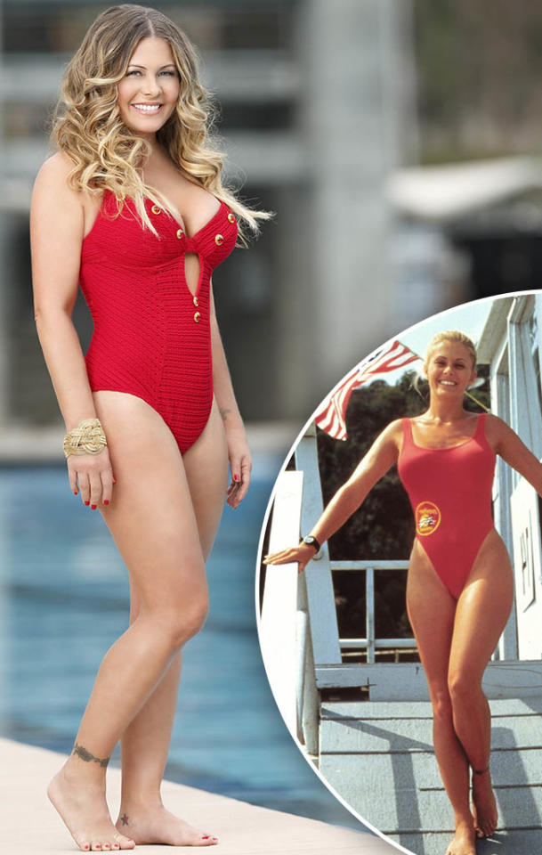 "Nicole Eggert competes on ABC's ""Splash."""