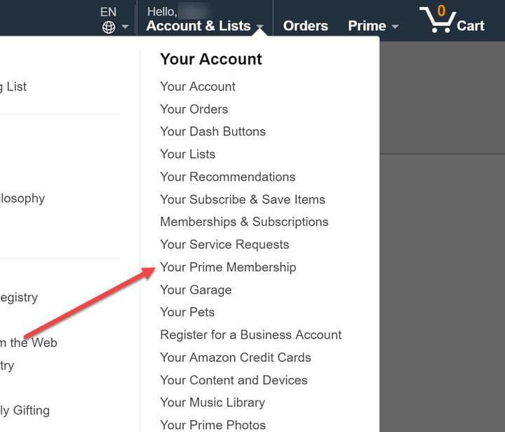 how to cancel amazon prime account membership
