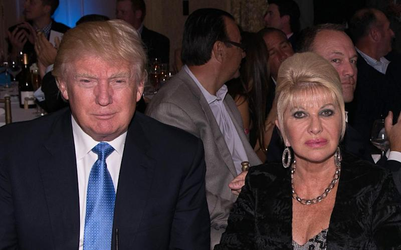 Donald and Ivana are now on good terms. Photo: Getty Images
