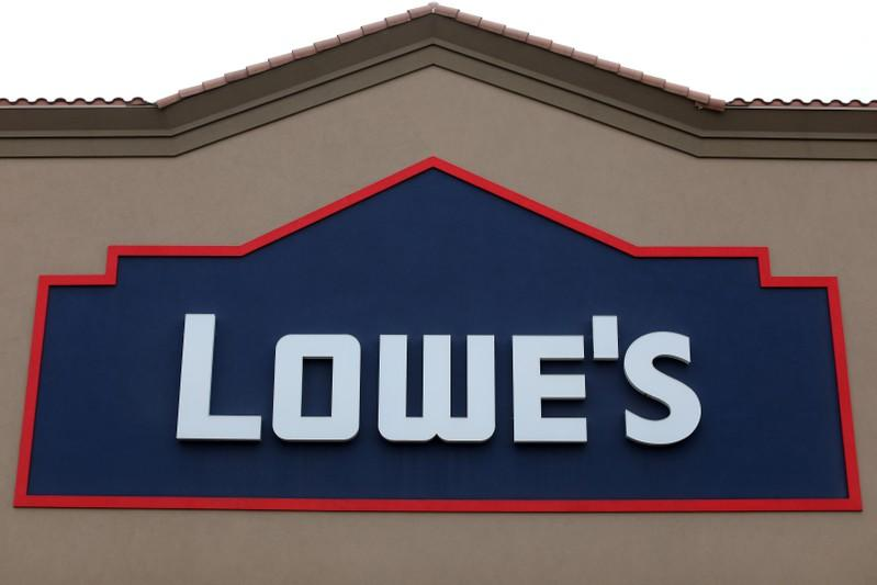 Lowe's raises profit forecast shares gain