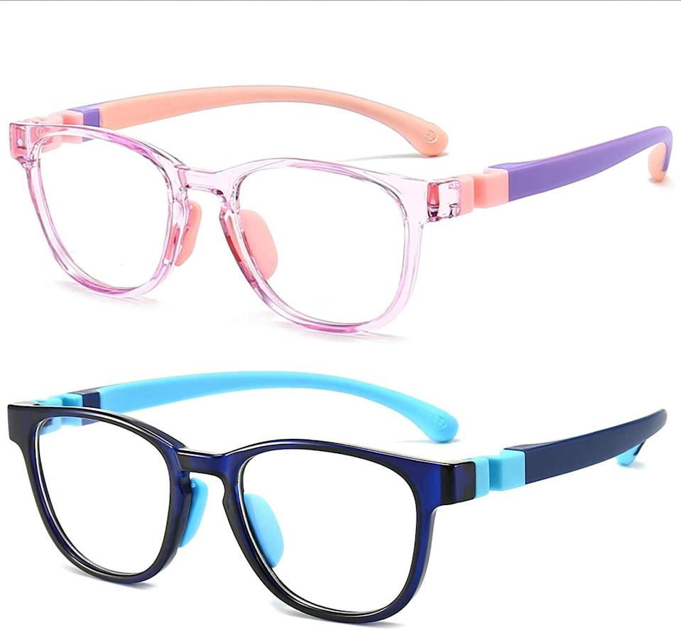 <p>These <span>Tomes Der Blue Light Glasses</span> ($17) are so playful, you'll have no problem getting your kids to wear them.</p>
