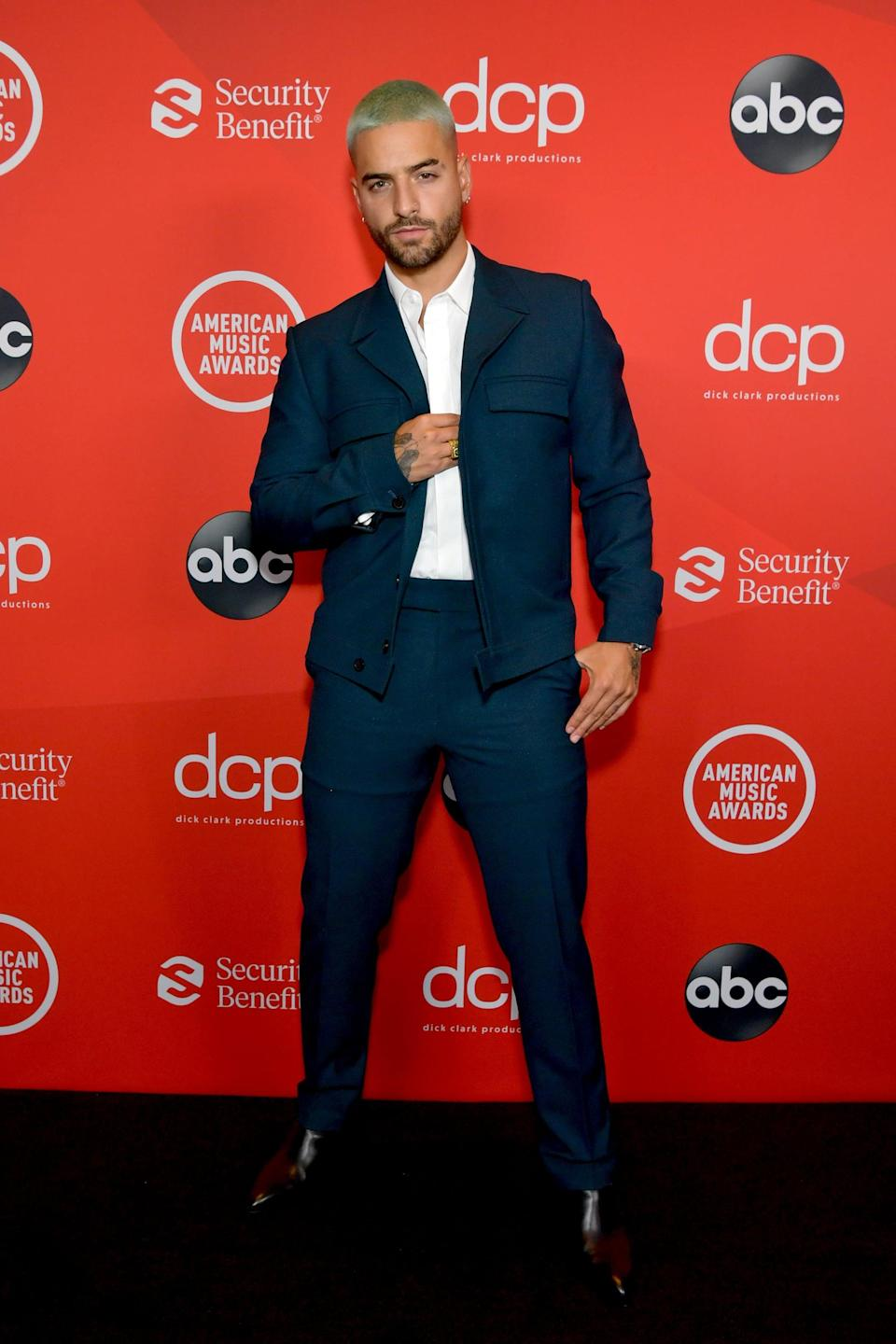 <p>Wearing a DZOJCHEN suit with Christian Louboutin shoes and Messika jewels.</p>